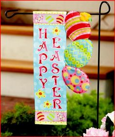 Easter Happy Holiday Flag $16.55 #HappyEaster #Easter #GiftCards