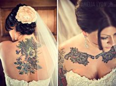 tattooed bride. beautiful