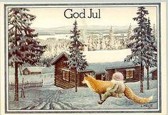 Lennart Helje Scandinavian Art, Scandinavian Christmas, Forest Creatures, Fantasy Creatures, Baumgarten, Kobold, Class Pictures, Art Costume, Fox Art
