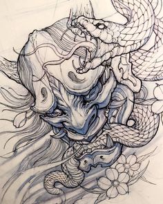 Hanya Mask Sketch by: @davidhoangtattoo