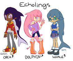 Splatoon New Species 1: Echolings by Bluecean