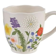 Hand Painted Mugs, Hand Painted Pottery, Hand Painted Ceramics, White Ceramics, Ceramics Pottery Mugs, Ceramic Mugs, Ceramic Pottery, Pottery Painting Designs, Pottery Designs