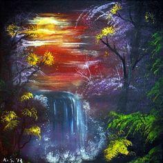 "Saatchi Online Artist KRISTIJAN SVELEC; Painting, ""MYSTIC WATERFALL"" #art"
