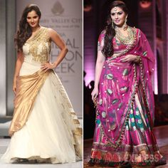 Sania Mirza and Huma Qureshi decked up as they turned showstoppers on Day 4 of the Amby Valley India Bridal Fashion Week. #Fashion #Style #Beauty #Bollywood