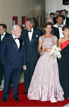 2002. PRINCE RAINIER in Celebrity Arrivals at the Red Cross Ball in Monaco