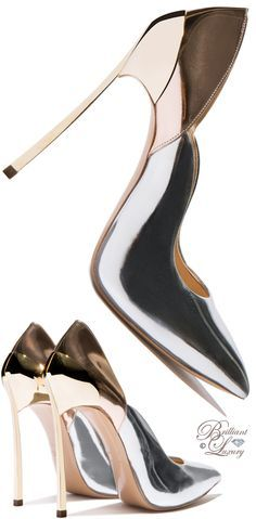 Brilliant Luxury by Emmy DE ♦ Casadei Techno Mirrored 'Blade' Pump