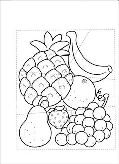 Użyj STRZAŁEK na KLAWIATURZE do przełączania zdjeć Preschool Writing, Preschool Worksheets, Preschool Activities, Math Exercises, Fruit Coloring Pages, French Language Lessons, Baby Words, Picture Puzzles, Fruit Of The Spirit