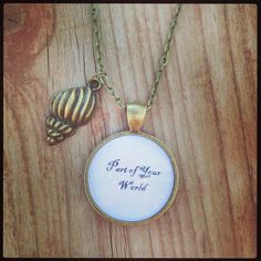 Part  of Your World Little Mermaid Quote Necklace by RCcreations9, $14.00
