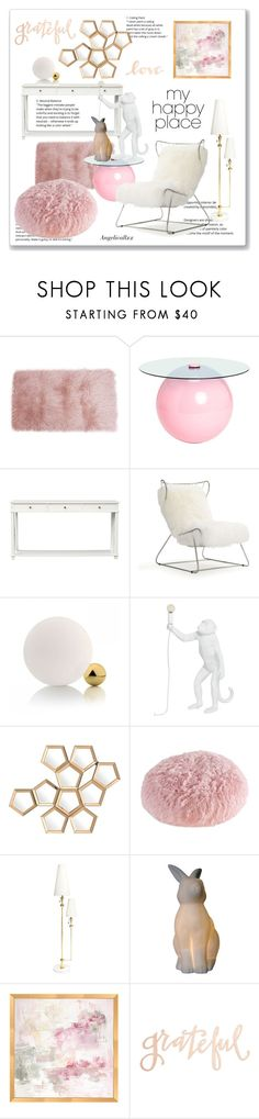 """""""My happy place is full of gratitude and love"""" by angelicallxx ❤ liked on Polyvore featuring interior, interiors, interior design, home, home decor, interior decorating, Mitchell Gold + Bob Williams, Seletti, Eichholtz and Jonathan Adler"""