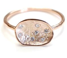 Unique Gold and Diamond Ring @Luuux