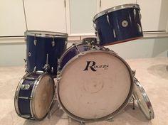 Star Drum Set 4 Piece Vintage Tama Badge Drums Drumset Rogers Ludwig 1960s