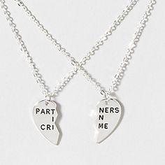 Partners In Crime BFF Necklace Set @Hannah Mestel Mestel Mestel Hodnett it's our necklace