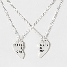 Partners In Crime BFF Necklace Set @Hannah Mestel Mestel Mestel Hodnett it's our necklace