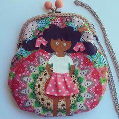 Handmade and handpainted... little bag for girls.