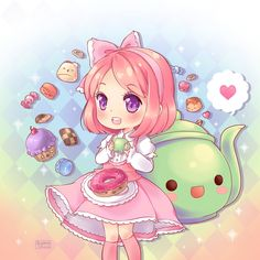 Chibi Tea Time! by AyameShiroi.deviantart.com on @deviantART