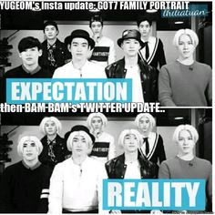 HAHA, yeahright XD it should be SAME HERE GOT7 FAMILY PIC :D Funny!! :D | allkpop Meme Center