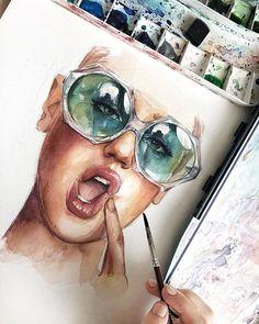 WANT A SHOUTOUT ? ! ᴄʟɪᴄᴋ ʟɪɴᴋ ɪɴ ᴍʏ ʙɪᴏ ᴛᴏ ʙᴇ ғᴇᴀᴛᴜʀᴇᴅ ! Tag #DRKYSELA Repost from @humid_peach Что знать хотите ? Акварель @mijello_russia #ilovemijello #watercolor#акварель#zbynekkysela#dailysketch#dailyart#рисунок#artevm#artwork#art#illustration#ladyterezie @artevm @ladyterezie @watercolor.illustrations @watercolor.blog via http://instagram.com/zbynekkysela