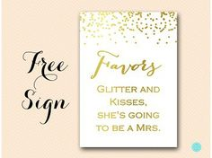 BS87-favors-kisses-glitter-sign-gold-foil-bridal-shower-sign