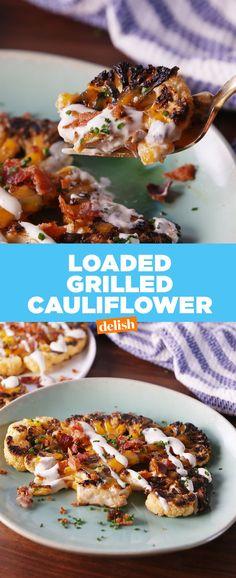 Loaded Grilled CauliflowerDelish