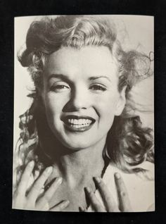 Marilyn Monroe Young and Gleeful Vintage Black and White | Etsy