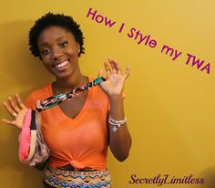 Natural Hair | How to style a TWA using headbands (4c Hair)
