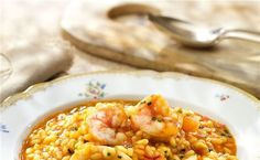 Arroz meloso con calamares y gambas Quinoa, Chana Masala, Tapas, Food And Drink, Meals, Vegetables, Ethnic Recipes, Recipes With Rice, Healthy Recipes