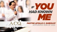 'If You Had Known Me' cover by Pastor Apollo C. Praise Songs, Praise And Worship, Son Of God, Apollo, Channel, Spirituality, Cover, Music, Youtube