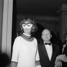 truman capote's 1966 black and white ball #trumancapote #vintage1960's #masquerade