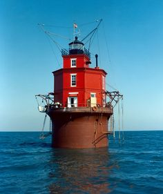 Wolf Trap Lighthouse, Virginia 1960. This lighthouse has a great structural history. It has changed considerably over time as storms have destroyed it and it has been rebuilt.