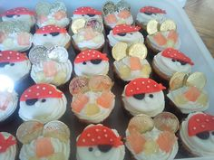 Pirate cupcake's.  I made these for Joshua's birthday party.