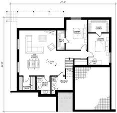 Plan de maison Ë_146 | Leguë Architecture Plane, Garage, House Plans, Floor Plans, House Design, How To Plan, Architecture, House Template, Couple Room