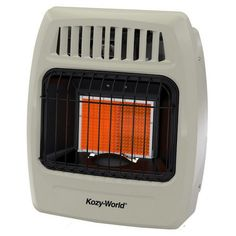 Kozy World Infrared Gas Wall Heater. DuraHeat new infrared designs feature high quality ceramic plaques that provide soothing infrared heat. Best Space Heater, Portable Space Heater, Natural Gas Wall Heater, Room Humidifier, Tower Heater, Fans For Sale, Infrared Heater, Wall Fans, Indoor