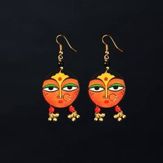 56 New ideas for embroidery jewelry earrings polymer clay Terracotta Earrings, Wooden Earrings, Wooden Jewelry, Clay Jewelry, Jewelry Crafts, Driftwood Jewelry, Brass Jewelry, Bead Jewellery, Fashion Jewellery