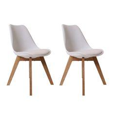 Moderner Design Esszimmerstuhl Consillium Valido (2er Set) / Holz - Maße 83x48x39 cm (Weiß): Amazon.de: Küche & Haushalt