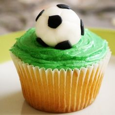 How does a foodie celebrate the FIFA World Cup? With (Fondant) Soccer Ball topped cupcakes of course!