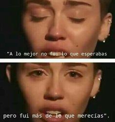 Sii... Y le dicen pu*a a Miley pero es inspiracion para algunos. Con sus palabras nos ayuda a sobrevivir y a saber que tenemos que ser nosotros mismos
