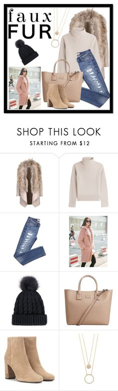 """Faux Fur"" by iva-hrgic98 ❤ liked on Polyvore featuring Vanessa Seward, WithChic, MANGO, Yves Saint Laurent and Kate Spade"