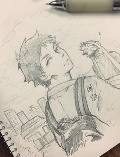 Anime Boy Sketch, Anime Drawings Sketches, Cartoon Drawings, Art Drawings, Manga Drawing, Haikyuu Fanart, Haikyuu Anime, Akaashi Keiji, Arte Sketchbook