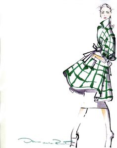 oscar de la renta  beautiful movement!