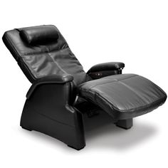 Relax your mind and body - rejuvenate with a selection of home massage equipment from Hammacher Schlemmer. Order from our range of massage chairs and back massagers. Bonded Leather, Black Leather, Massage Chair, Comfy, Cool Stuff, Nerd Stuff, Home Decor, Serenity, Hammacher Schlemmer