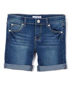 Take a look at this miniMOCA Medium Blue Denim Bermuda Shorts - Girls today!