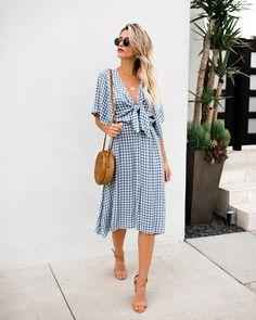 Westminster Tie Midi Dress – VICI