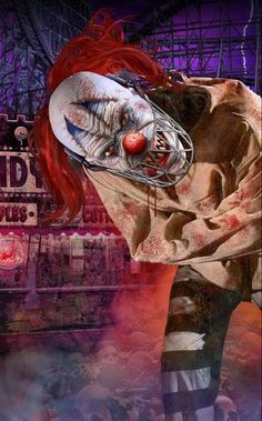 Bayville Screampark: 5 attractions, always open during the season, pumpkin patch, gifts & treats shop. Freaky Clowns, Evil Clowns, Ugly Clowns, Halloween Circus, Circus Clown, Halloween Crafts, Zombies, Evil Dead, Haunted Attractions