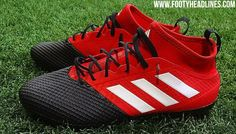 """Adidas will launch a spectacular black-and-red """"Predator"""" colorway of the next-gen Ace 17 football boots."""