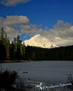 Frozen Frog Lake in the Mount Hood National Forest