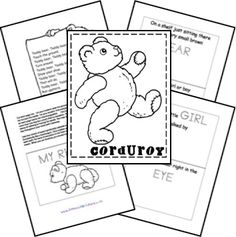 Since I plan to dabble a little bit with Before Five in a Row I figured I might as well share what great resources I have found with anyone who could use them! Preschool Books, Preschool At Home, Preschool Curriculum, Homeschooling, Kindergarten, Corduroy Activities, Alphabet Activities, Book Activities, Educational Activities