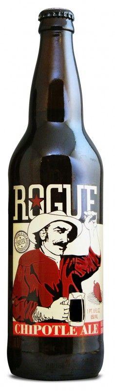 Cerveja Rogue Chipotle Ale, estilo American Amber Ale, produzida por Rogue Ales Brewery, Estados Unidos. 7% ABV de álcool.
