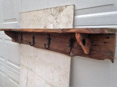 Entry shelf / coat rack made from barn wood