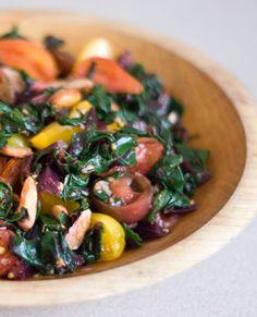 Beet Greens Salad - Fresh Ingredients!