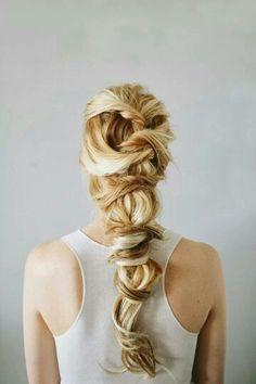 Medieval braid viking hairstyle